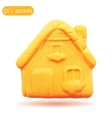 Icon of plasticine house vector image