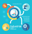 industrial working process design concept vector image vector image