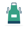 kitchen apron flat material design isolated vector image