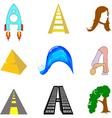 letter A v vector image