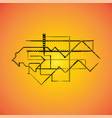 mechanical schemes engineering drawing vector image vector image