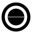medical pill icon black color in circle vector image vector image