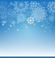 merry christmas and new year blue background vector image vector image