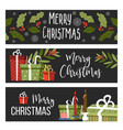 merry christmas winter holiday celebration posters vector image