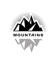 Mountains logo for a firm company or corporation vector image