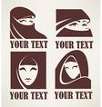 muslim woman logo vector image vector image