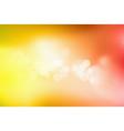 orange bokeh abstract light background vector image vector image