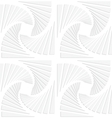 Paper white squares split and swirled vector image vector image