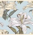 patttern of the garden lilies vector image vector image