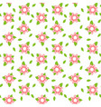 pink flower seamless abstract pattern on white vector image vector image
