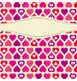 pink valentines background with hearts vector image vector image