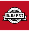 Pizza stamp vintage style vector image vector image