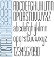 Poster black light condensed font and numbers vector image vector image