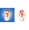 question box concept for banner poster vector image