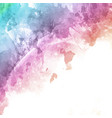 rainbow coloured watercolour texture background vector image vector image