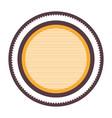 realistic color heraldic circular figure stamp vector image vector image