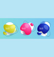set abstract liquid shape abstract banners vector image vector image