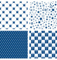 set blue seamless patterns backgrounds vector image vector image