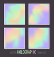 set holographic gradient templates vector image