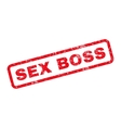 Sex Boss Rubber Stamp vector image vector image