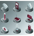 smart home color isometric icons vector image