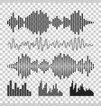 sound waveforms icon sound waves and musical vector image
