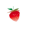strawberry design element vector image vector image