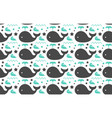 sweet whales sea ocean decorative seamless vector image