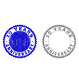 textured 10 years anniversary scratched stamp vector image vector image