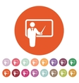 The teacher icon Training and presentation vector image vector image