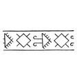 turkish design is a border design vintage vector image vector image