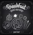 vintage poster breakfast croissant and tea vector image vector image