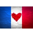 Vive la France hand painted national flag vector image vector image