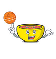 with basketball soup union character cartoon vector image vector image