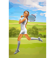 Young tennis player woman vector image vector image