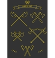 Crossed battle axes vector image