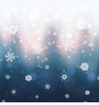 abstract christmas background with blurred winter vector image