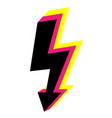 3d icons lightning bolt thunder sign with vector image