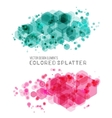 abstract background with color splash vector image