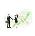 agreement between two business partners finance vector image