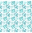 background with seamless floral pattern vector image vector image