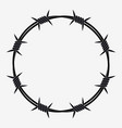 barbed wire of circle shape vector image vector image