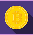 bitcoin on violet background vector image vector image