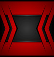 black and red abstract geometric background vector image