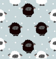 black sheep with dot seamless pattern vector image vector image