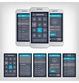 blue mobile user interface vector image vector image