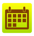 calendar sign brown icon at vector image vector image