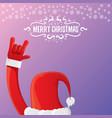 cartoon rock n roll santa claus with vector image