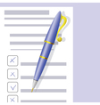 Checklist and Pen vector image vector image