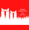 christmas banner with snowflakes and presents vector image vector image